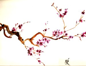 water color sakura paint